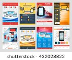 set of vector business flyer... | Shutterstock .eps vector #432028822
