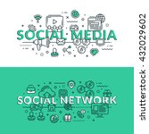 social media and social network ... | Shutterstock .eps vector #432029602