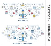 payments. personal manager. web ... | Shutterstock .eps vector #432031552