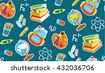different school objects.... | Shutterstock .eps vector #432036706