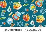 different school objects.... | Shutterstock .eps vector #432036706