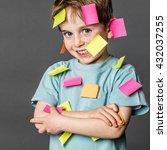 multi tasking preschool... | Shutterstock . vector #432037255