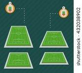 stadium field pitch football... | Shutterstock .eps vector #432038902