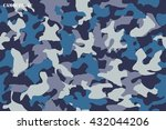 camouflage seamless pattern... | Shutterstock .eps vector #432044206