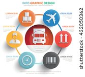 cargo logistic info graphic... | Shutterstock .eps vector #432050362