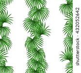 seamless pattern with palms... | Shutterstock .eps vector #432052642