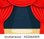 cartoon theater. theater... | Shutterstock .eps vector #432064405