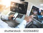 medical technology network... | Shutterstock . vector #432066802