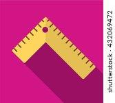 ruler icon | Shutterstock .eps vector #432069472