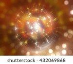 bokeh light orange abstract... | Shutterstock . vector #432069868