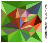 low polygon triangle pattern... | Shutterstock . vector #432074998