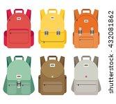 schoolbag flat illustration.... | Shutterstock .eps vector #432081862