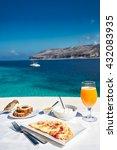 Greek Breakfast With Omelet An...