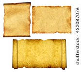 collection of old scrolls and... | Shutterstock . vector #432087076