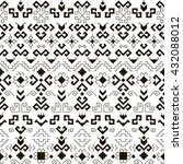 geometric seamless pattern with ... | Shutterstock .eps vector #432088012