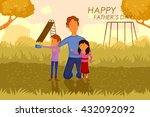 happy father's day greeting... | Shutterstock .eps vector #432092092