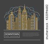 urban landscape concept. office ... | Shutterstock .eps vector #432096682