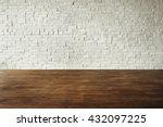 wooden brick floor wall... | Shutterstock . vector #432097225