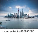 beautiful shanghai skyline and...   Shutterstock . vector #432099886