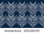 geometric ethnic oriental... | Shutterstock .eps vector #432100195