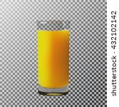 vector illustration. a glass of ... | Shutterstock .eps vector #432102142