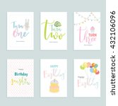 happy birthday  greeting and... | Shutterstock .eps vector #432106096