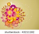 floral vector illustration | Shutterstock .eps vector #43211182