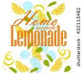 pattern of lemon slices  ice... | Shutterstock .eps vector #432113482