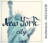 vector calligraphy lettering... | Shutterstock .eps vector #432116158
