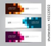 vector design banner... | Shutterstock .eps vector #432123022