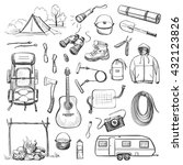 vector set of sketches on the... | Shutterstock .eps vector #432123826