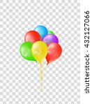 bunch of colored transparent... | Shutterstock .eps vector #432127066