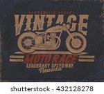 Motorcycle. Vintage Motor Tee...
