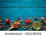 granola ingredients. granola... | Shutterstock . vector #432128356