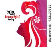 acrylic beautiful girl. vector... | Shutterstock .eps vector #432130912