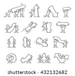 cartoon icons set of sketch... | Shutterstock .eps vector #432132682