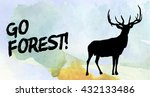 Elk Watercolor Design Template...