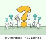 sketch of working little people ... | Shutterstock .eps vector #432135466