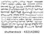 set of vintage sketch elements. ... | Shutterstock .eps vector #432142882