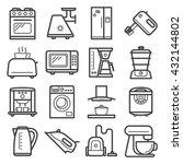 line art icons of home... | Shutterstock .eps vector #432144802