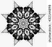 mandala black. white background.... | Shutterstock .eps vector #432144898