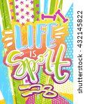 life is sport poster with... | Shutterstock .eps vector #432145822