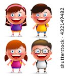 kids students vector characters ... | Shutterstock .eps vector #432149482