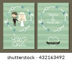 save the date. wedding... | Shutterstock .eps vector #432163492