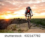cyclist riding the bike down...   Shutterstock . vector #432167782
