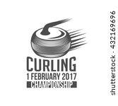curling game vintage badge.... | Shutterstock .eps vector #432169696