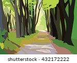 green forrest trees vector.... | Shutterstock .eps vector #432172222