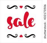 modern sale poster. discount... | Shutterstock .eps vector #432173506