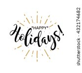 happy holidays. beautiful... | Shutterstock .eps vector #432174682