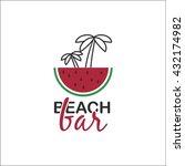 beach bar design template... | Shutterstock .eps vector #432174982